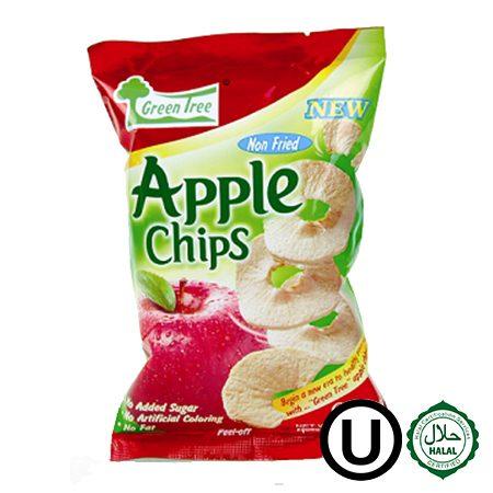 46 chips de manzana 22grs